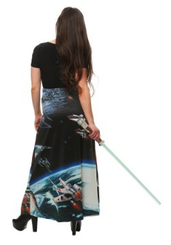 Star Wars Death Star Battle Sublimated Skirt Maxi Dress1