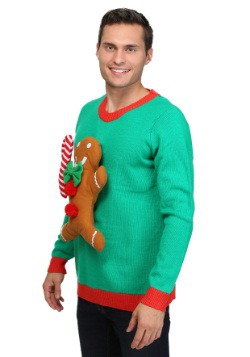 3D Gingerbread Man Christmas Sweater 1