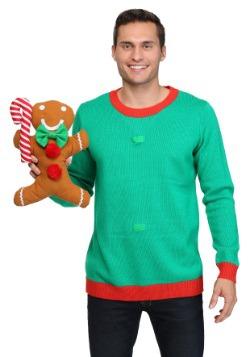 3D Gingerbread Man Christmas Sweater 3