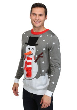 Snowman with Scarf Christmas Sweater 1