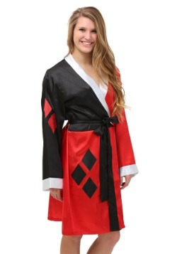 Harley Quinn Satin Bathrobe