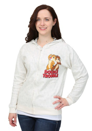 Chip N Dale Reversible Juniors Hooded Sweatshirt