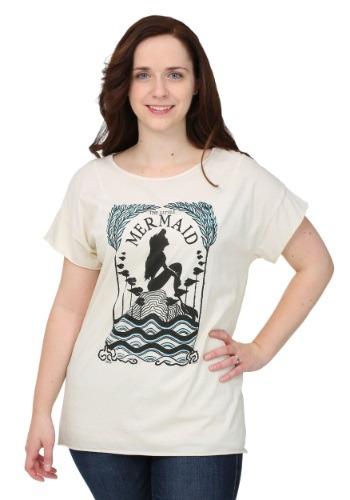 Women's Little Mermaid Artistic Silo  T-Shirt