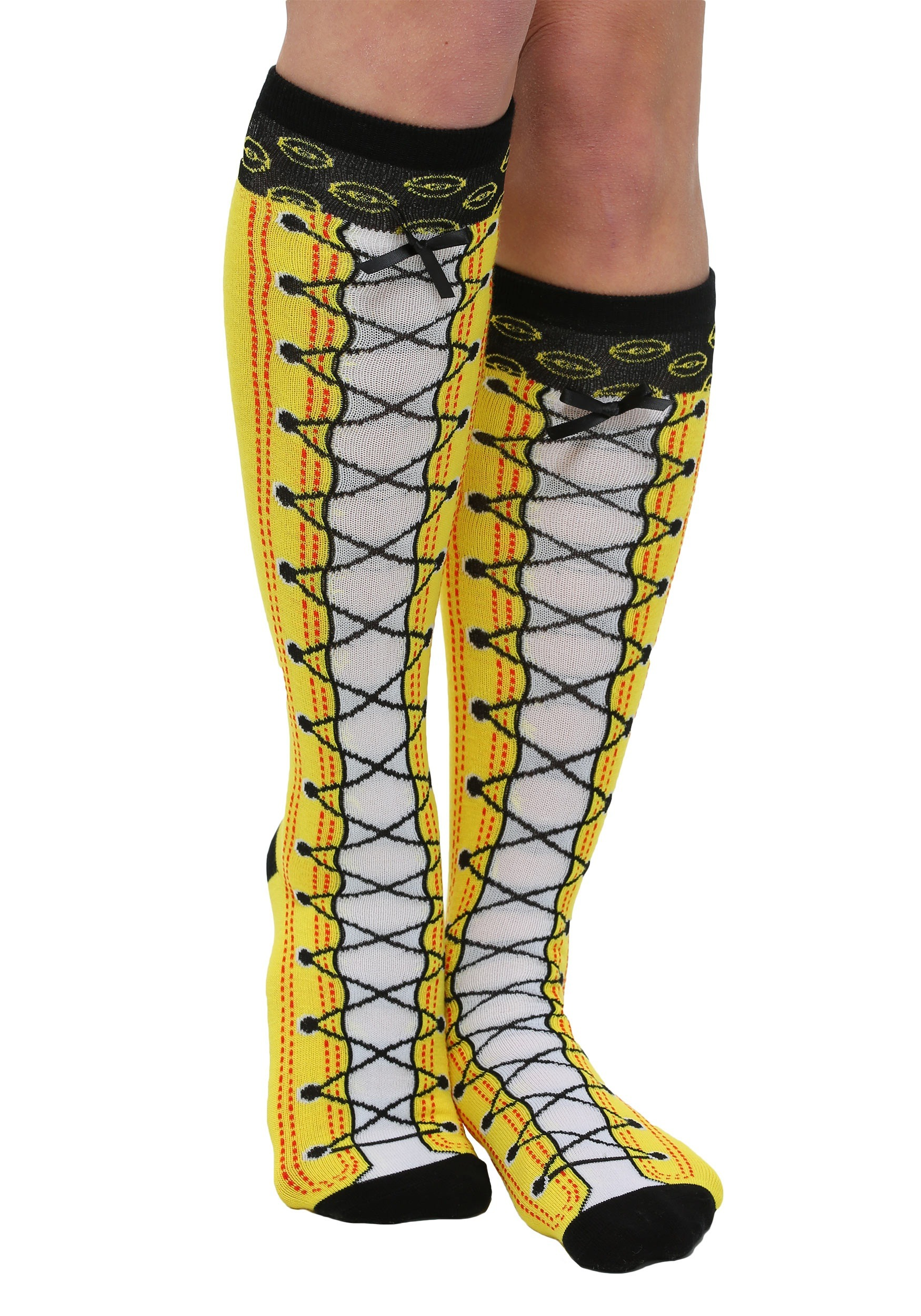 6d2c79d36 Pokemon Faux Lace Up Knee High Socks