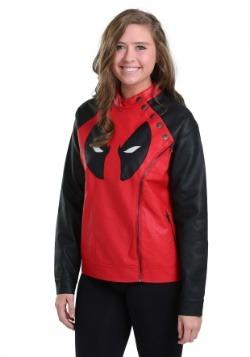 Juniors Deadpool Side Zip Moto Jacket
