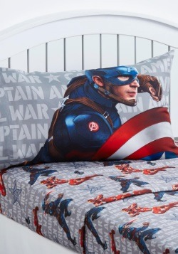Captain America Civil War Twin Sheet Set