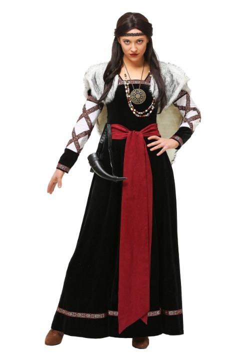 Dark Viking Dress Womens Costume