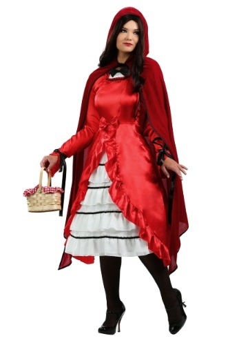 Plus Size Fairytale Red Riding Hood Costume For Adults