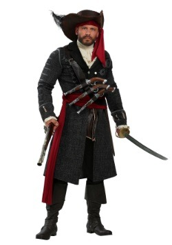 Men's Blackbeard Plus Size Costume