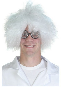 Mad Scientist White Wig