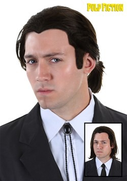 Vincent Vega Wig and Bolo Tie Set From Pulp Fiction