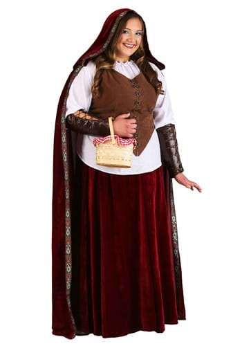 Deluxe Plus Size Red Riding Hood Costume