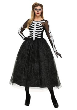 Skeleton Beauty Plus Size Women's Costume