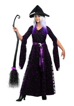 Purple Moon Witch Costume for Women