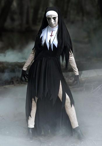 Plus Size Women's Dreadful Nun Costume