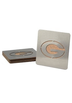 Green Bay Packers Boasters 4 Pack Coaster Set