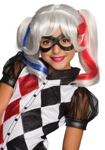 Girls DC Superhero Harley Quinn Wig