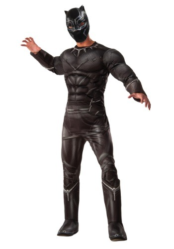 Deluxe Black Panther Civil War Mens Costume