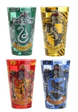 Harry Potter Houses 4pc 16oz Colored Pint Glass Set