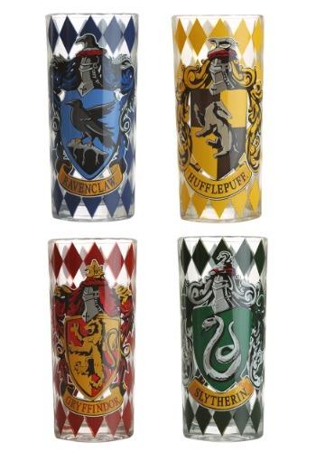 Harry Potter 4pc 10oz Glass Tumbler Set