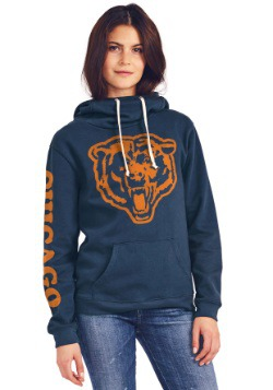 Ladies Chicago Bears Cowl Neck Hoodie