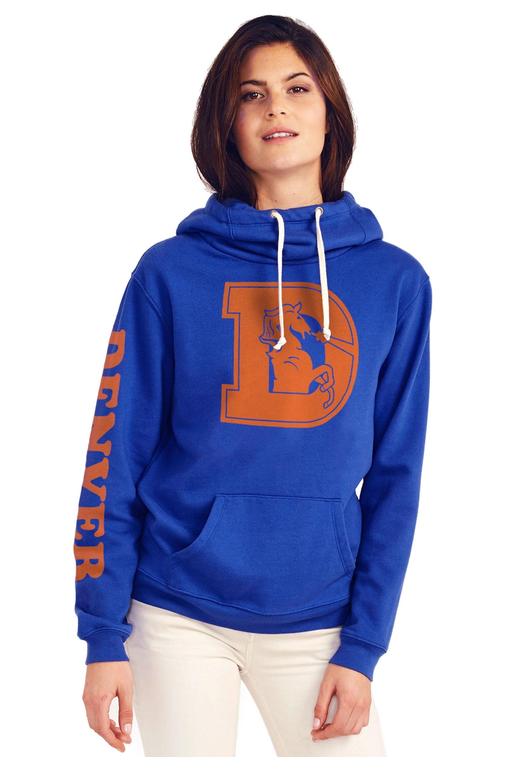 6299288debd Denver Broncos Women s Cowl Neck Hooded Sweatshirt