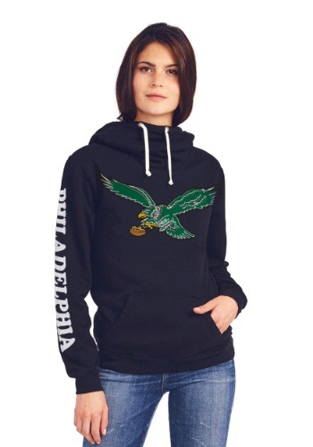 Philadelphia Eagles Cowl Neck Womens Hoodie