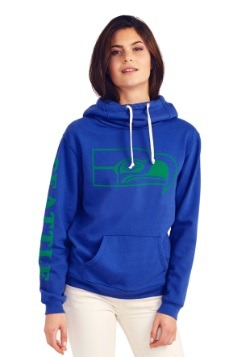 Seattle Seahawks Cowl Neck Womens Hoodie