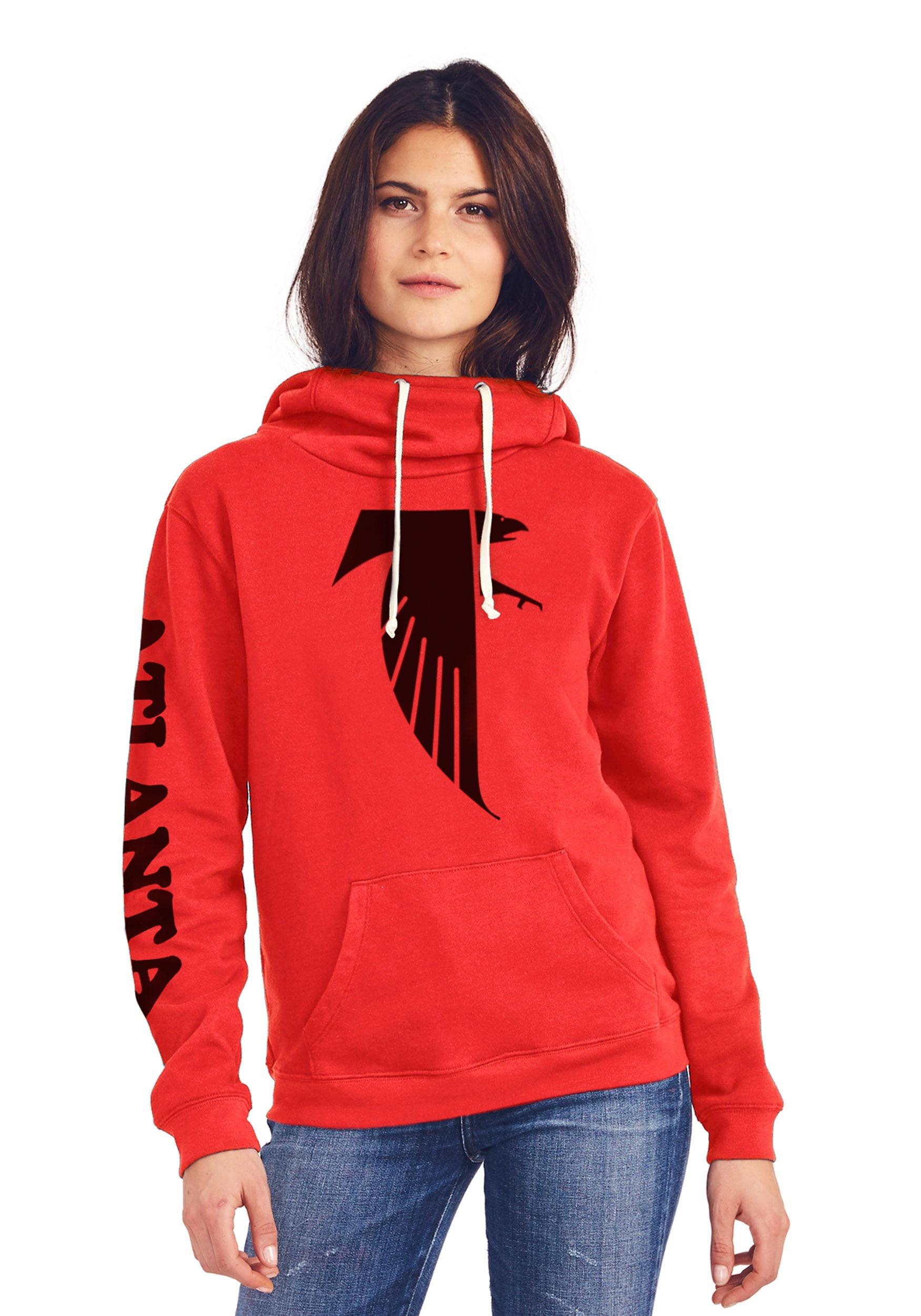 Atlanta Falcons Women s Cowl Neck Hooded Sweatshirt 87eb1f427