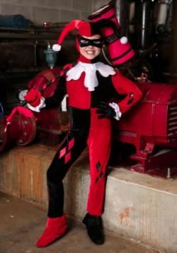 Girls Harley Quinn Jumpsuit Costume