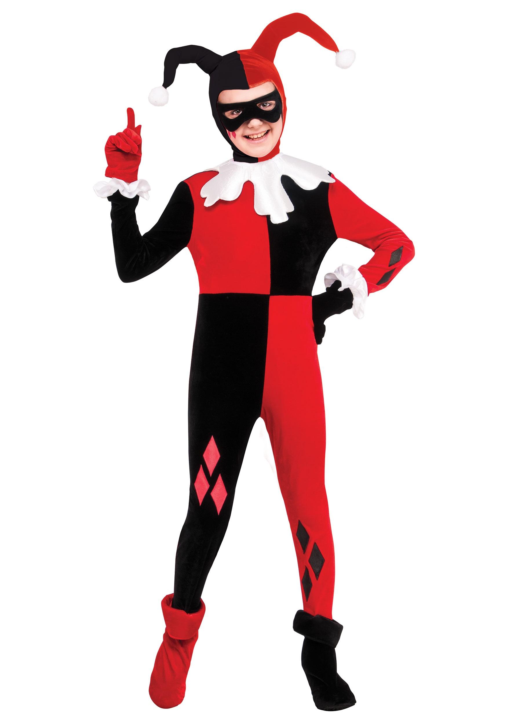Halloween Costume Girls Harley Quinn Child Costume Medium or Large New