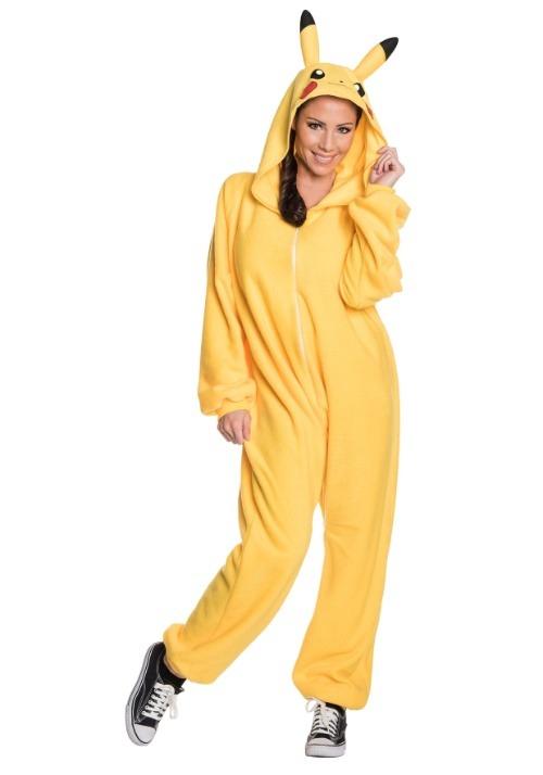 Pikachu Jumpsuit Adult Costume