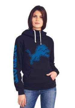 Detroit Lions Cowl Neck Women's Hoodie