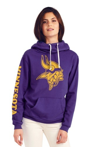 Minnesota Vikings Cowl Neck Womens Hoodie