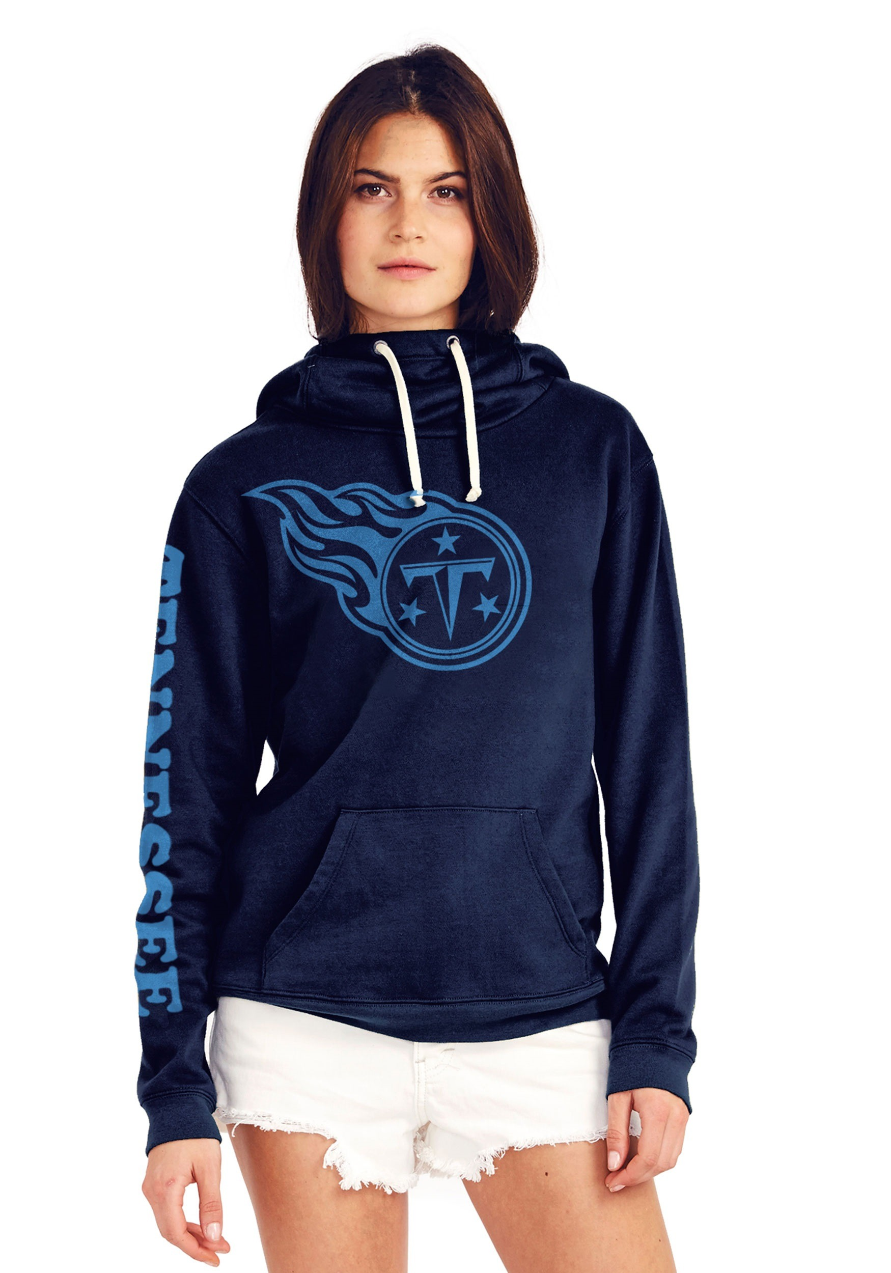 3b35c801bb8 Tennessee Titans Women's Cowl Neck Hooded Sweatshirt