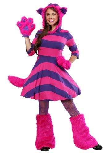 Women's Cheshire Cat Plus Size Costume