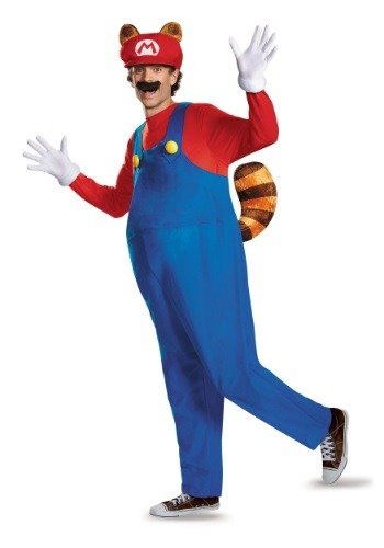 Adult Deluxe Mario Raccoon Plus Size Costume