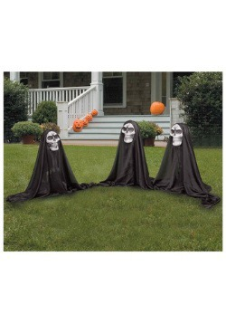 Three Lawn Reapers Halloween Decorations