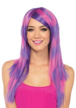 Striped Cheshire Cat Wig For Adults