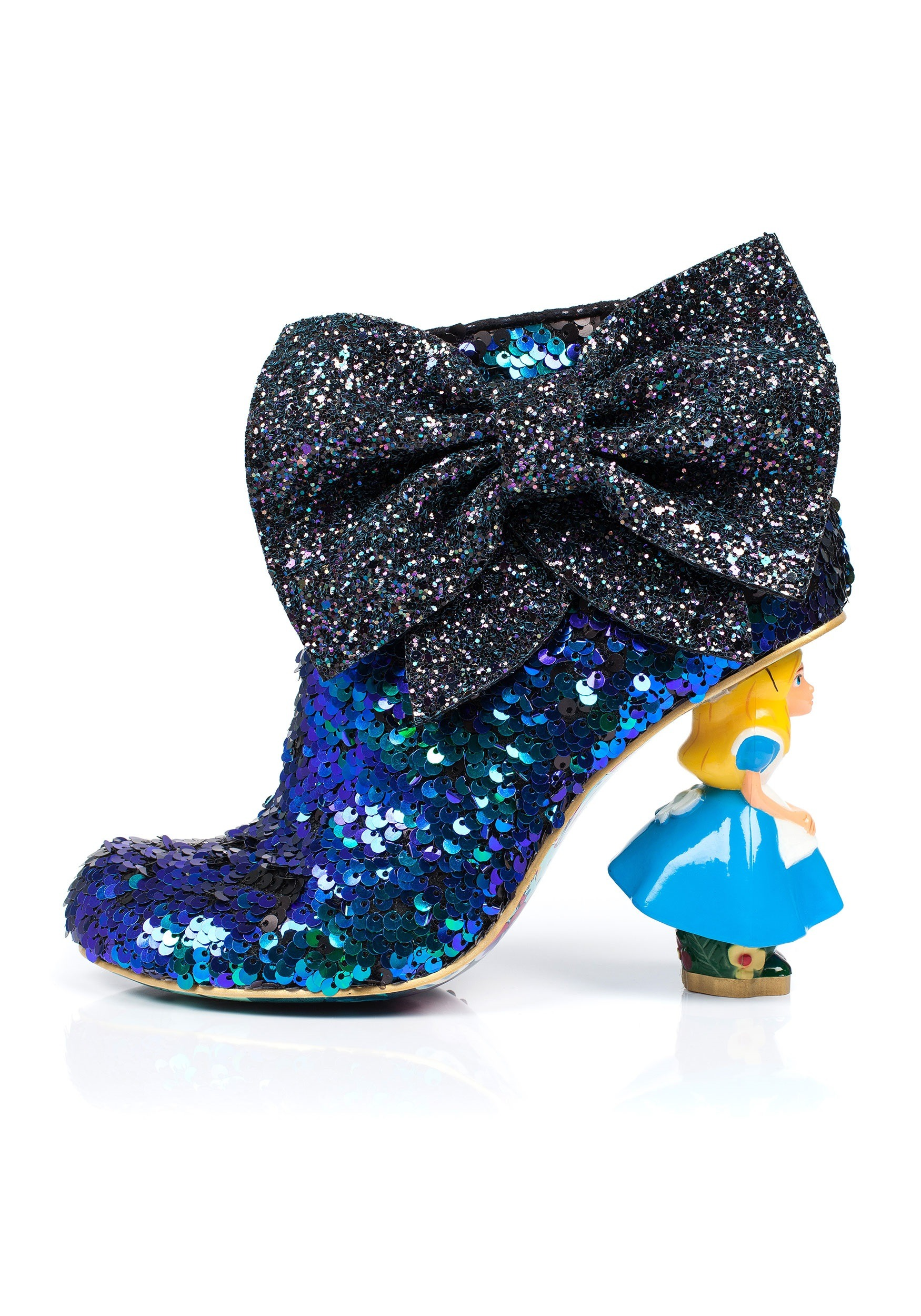 Alice In Wonderland Who In The World Am I Glitter Boot