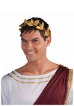 Gold Leaf Roman Crown
