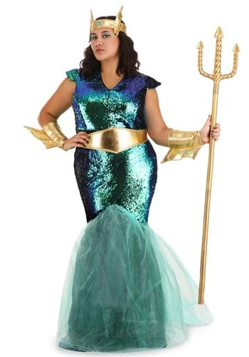 Women's Sea Siren Plus Size Costume