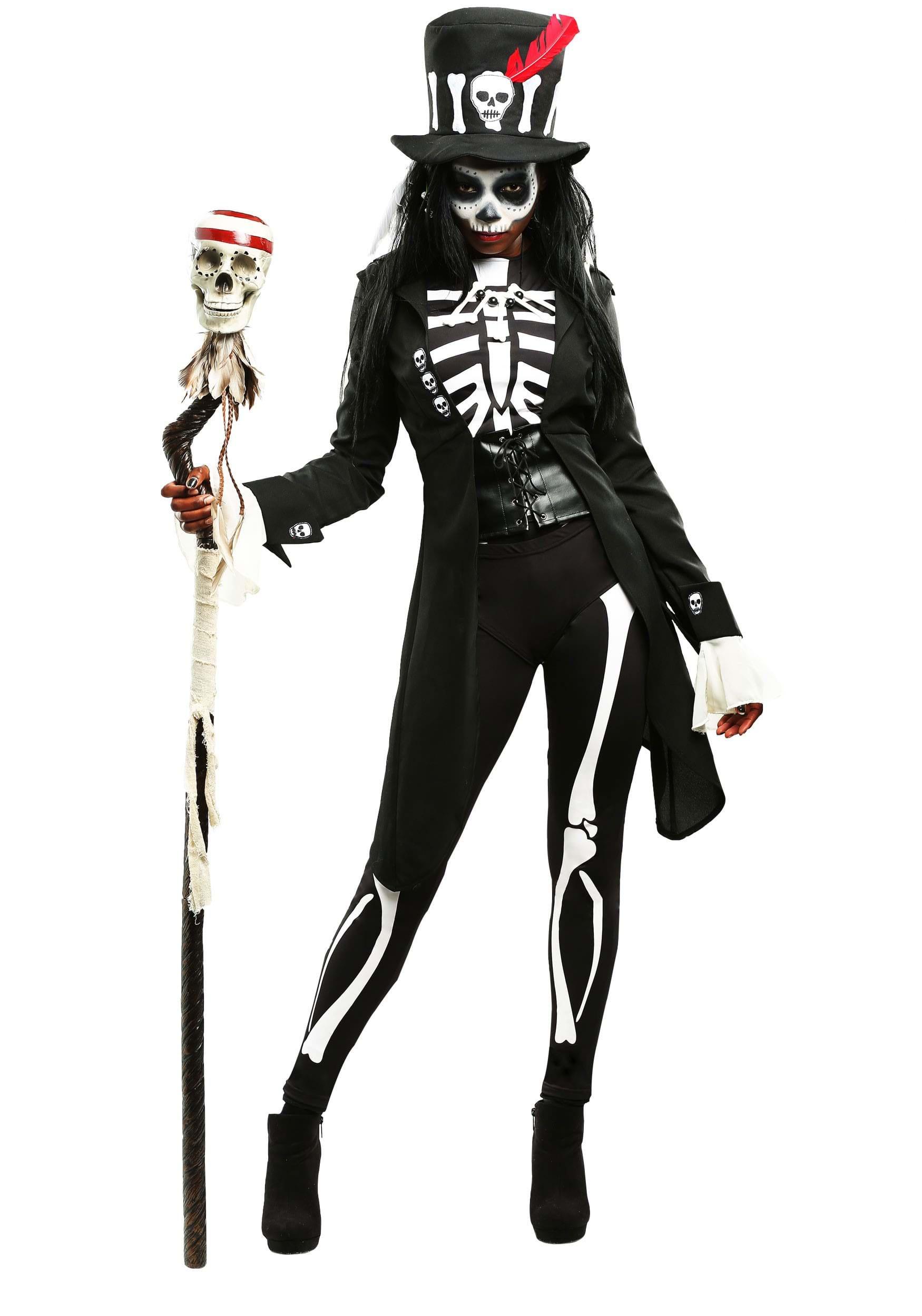 3016d4c813d29 Women's Voodoo Skeleton Costume