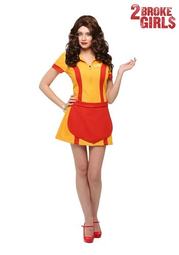 2 Broke Girls Plus Size Womens Waitress Costume