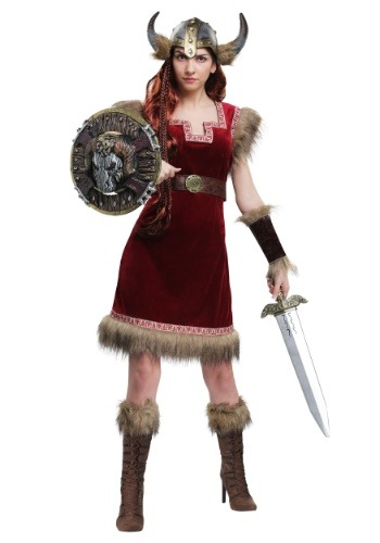 Womens Barbarian Viking Costume