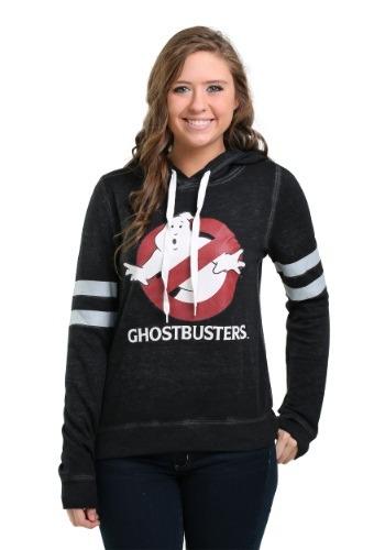 Ghostbusters Logo Burnout Juniors Hooded Sweatshirt