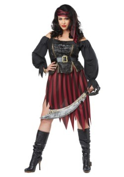 Plus Size Queen of the High Seas Costume for Women