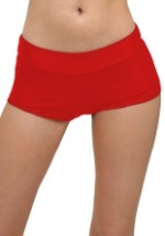 Deluxe Red Hot Pants For Adults