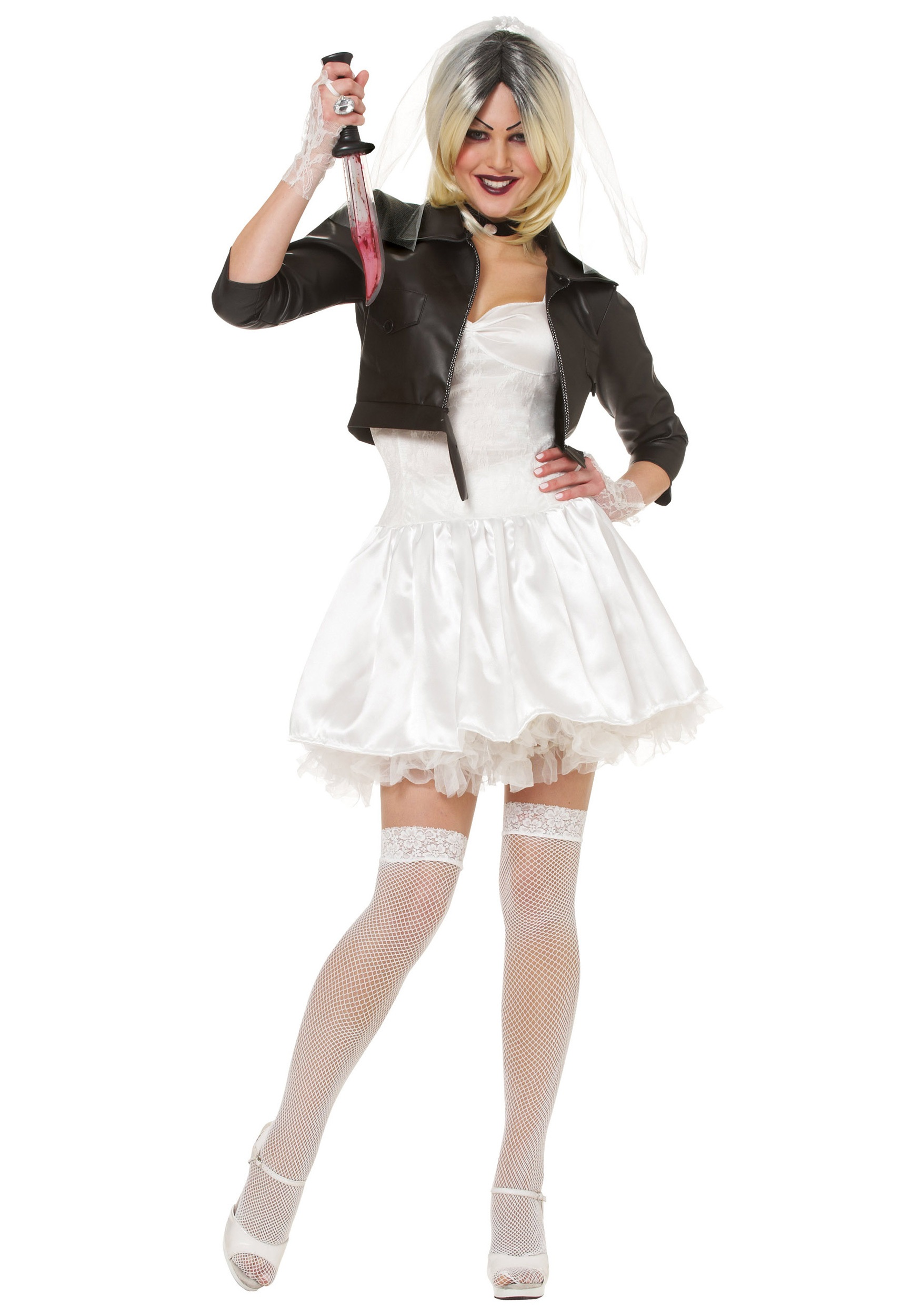 Sexy Bride of Chucky Fancy Dress Costume