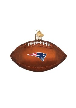 New England Patriots Glass Football Ornament